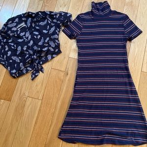 Urban Outfitters cropped blouse and dress